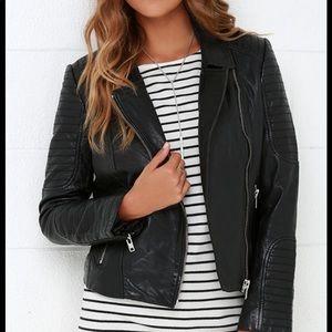 BB Dakota Genuine Leather Moto Biker Jacket Size M